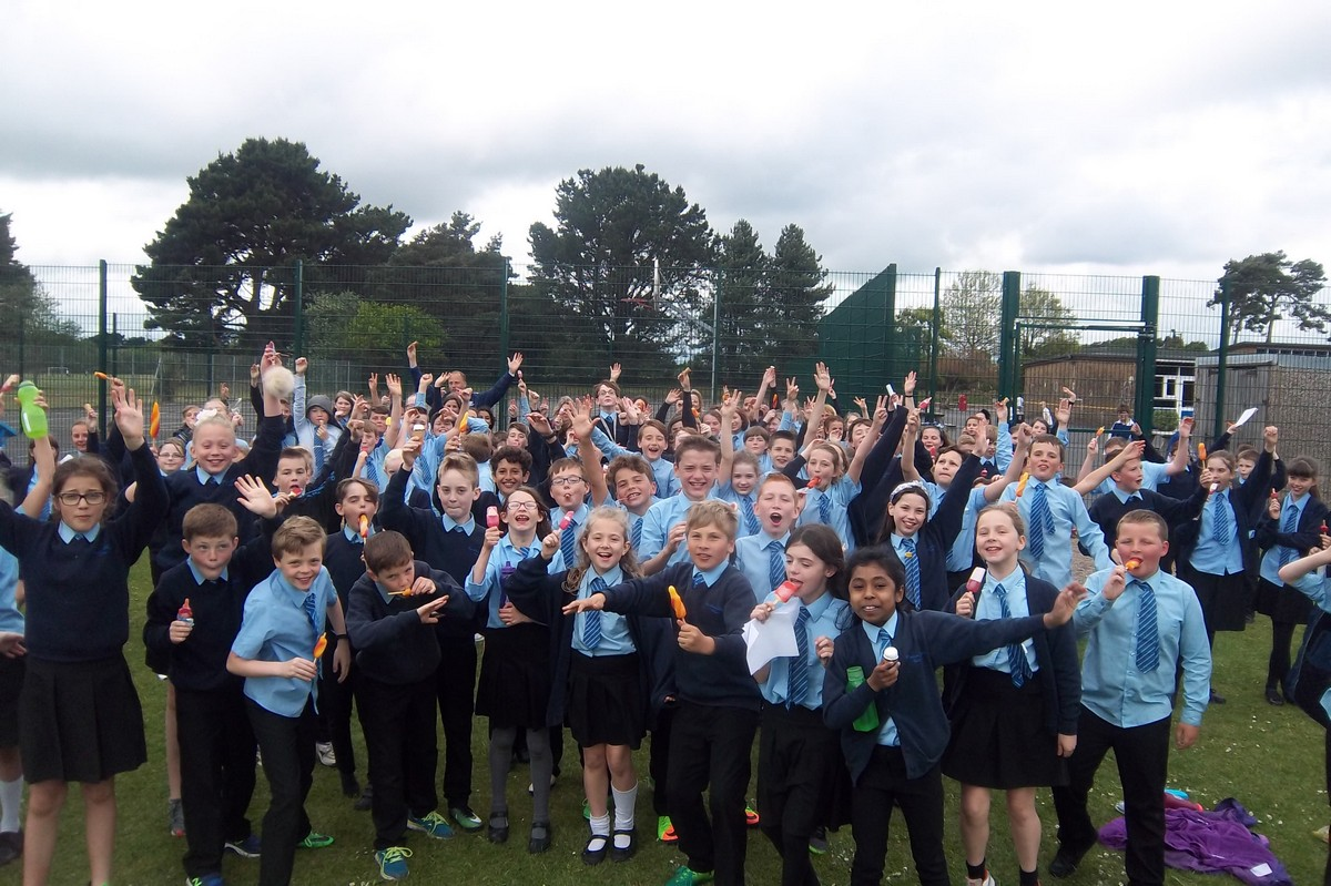Year 6 Celebrate End of SATs