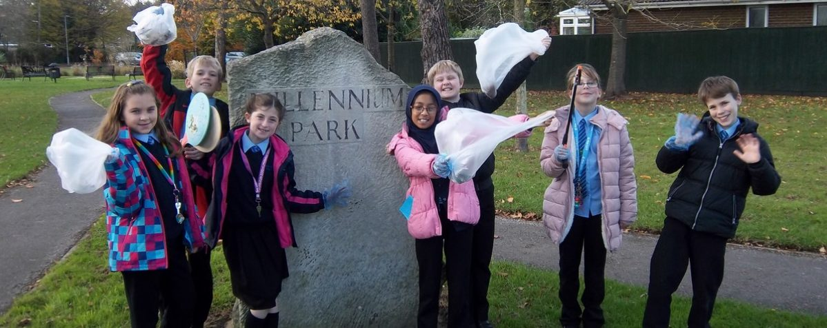 Eco Council Litter Pick Remembrance Garden