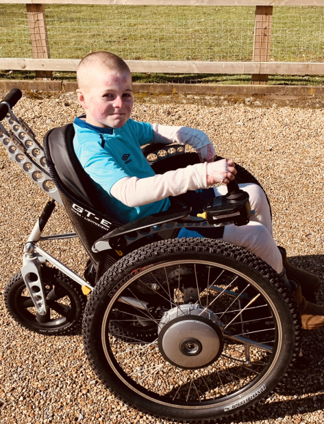 Mason Takes New Wheels for Spin